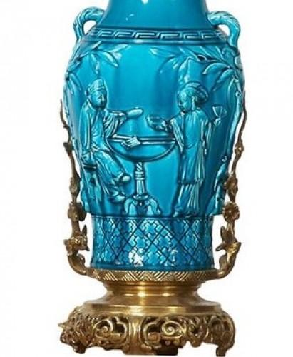 Ceramic lamp - Longwy, late 19th century - Lighting Style