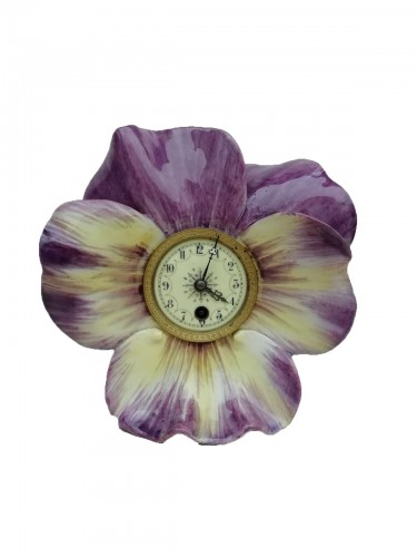Pansy-shaped clock - Delphin Massier, end of the XIXth century