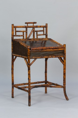 Bamboo and lacquer secretary - France, circa 1890 - Furniture Style