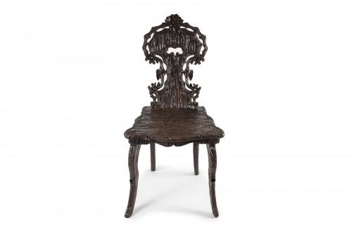 Seating  - Wooden chair Black Forest, Germany - Late 19th century
