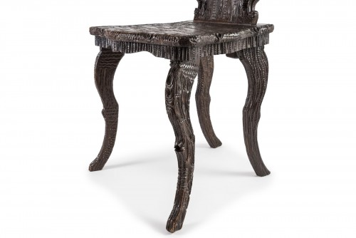 19th century - Wooden chair Black Forest, Germany - Late 19th century
