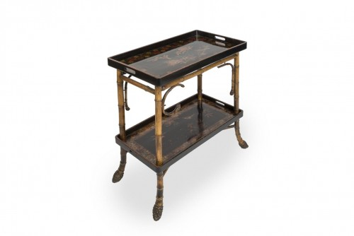 Bamboo and lacquer side table - Perret & Vibert, circa 1880 - Furniture Style