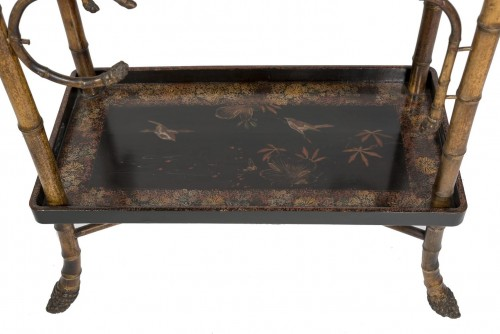 Bamboo and lacquer side table - Perret & Vibert, circa 1880 -
