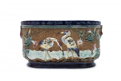 Set of ceramics - Manufacture d'Onnaing, France - Porcelain & Faience Style
