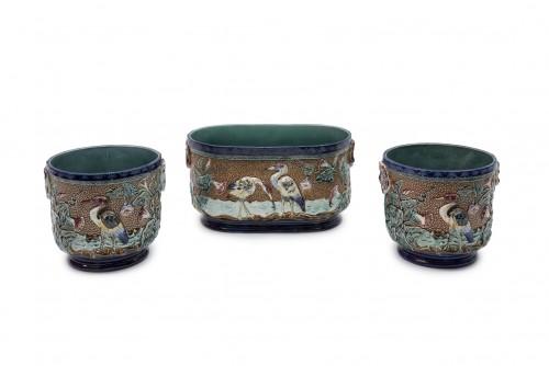 Porcelain & Faience  - Set of ceramics - Manufacture d'Onnaing, France