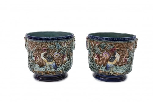 19th century - Set of ceramics - Manufacture d'Onnaing, France