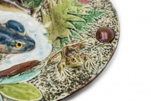 Porcelain & Faience  - Choisy-le-Roi, France - Blue fish dish, late 19th century