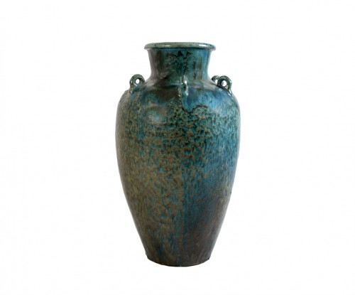 Blue ase in flamed stoneware, 20th century