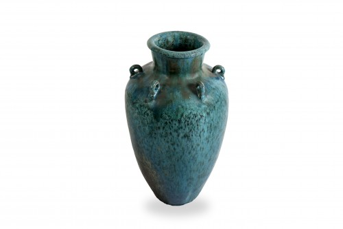 Blue ase in flamed stoneware, 20th century - Porcelain & Faience Style