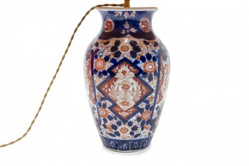 Lighting  - Imari Vase mounted as a lamp, end of the 19th century