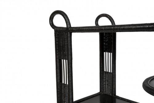 Furniture  - Black rattan trolley, France 20th century