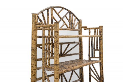 Furniture  - Bamboo shelf, France end of the 19th century