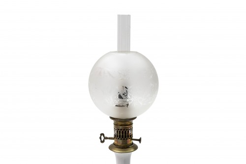 Pair of porcelain oil lamps, late 19th century - Lighting Style