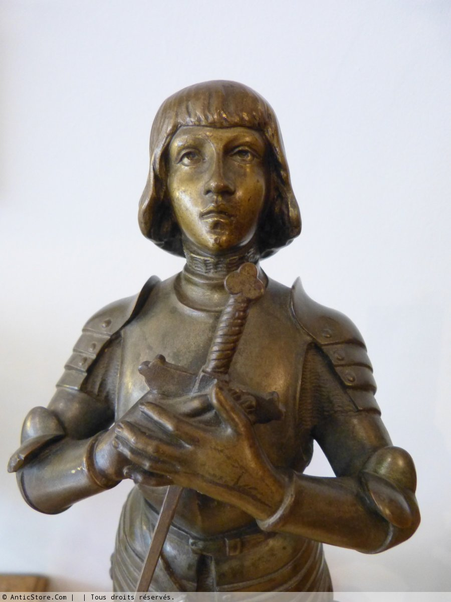 Statue Bronze Jeanne d'Arc signé Ruffony - XIXe siècle - N ...