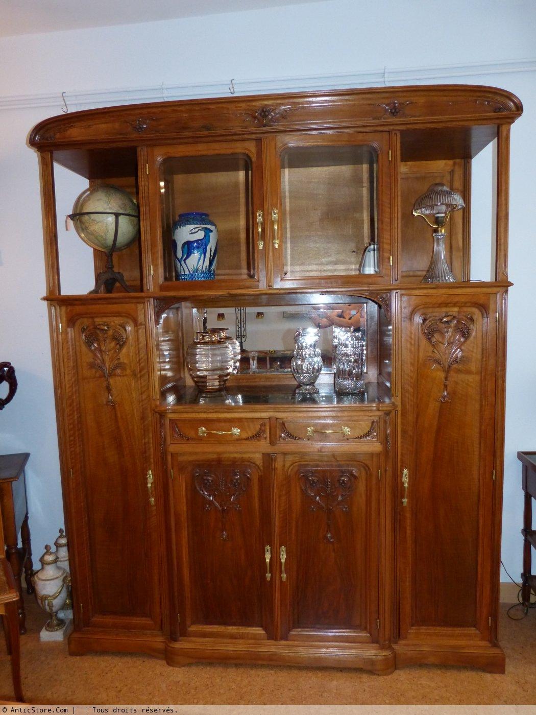 art nouveau salle manger en noyer style ecole de nancy mobilier style art nouveau