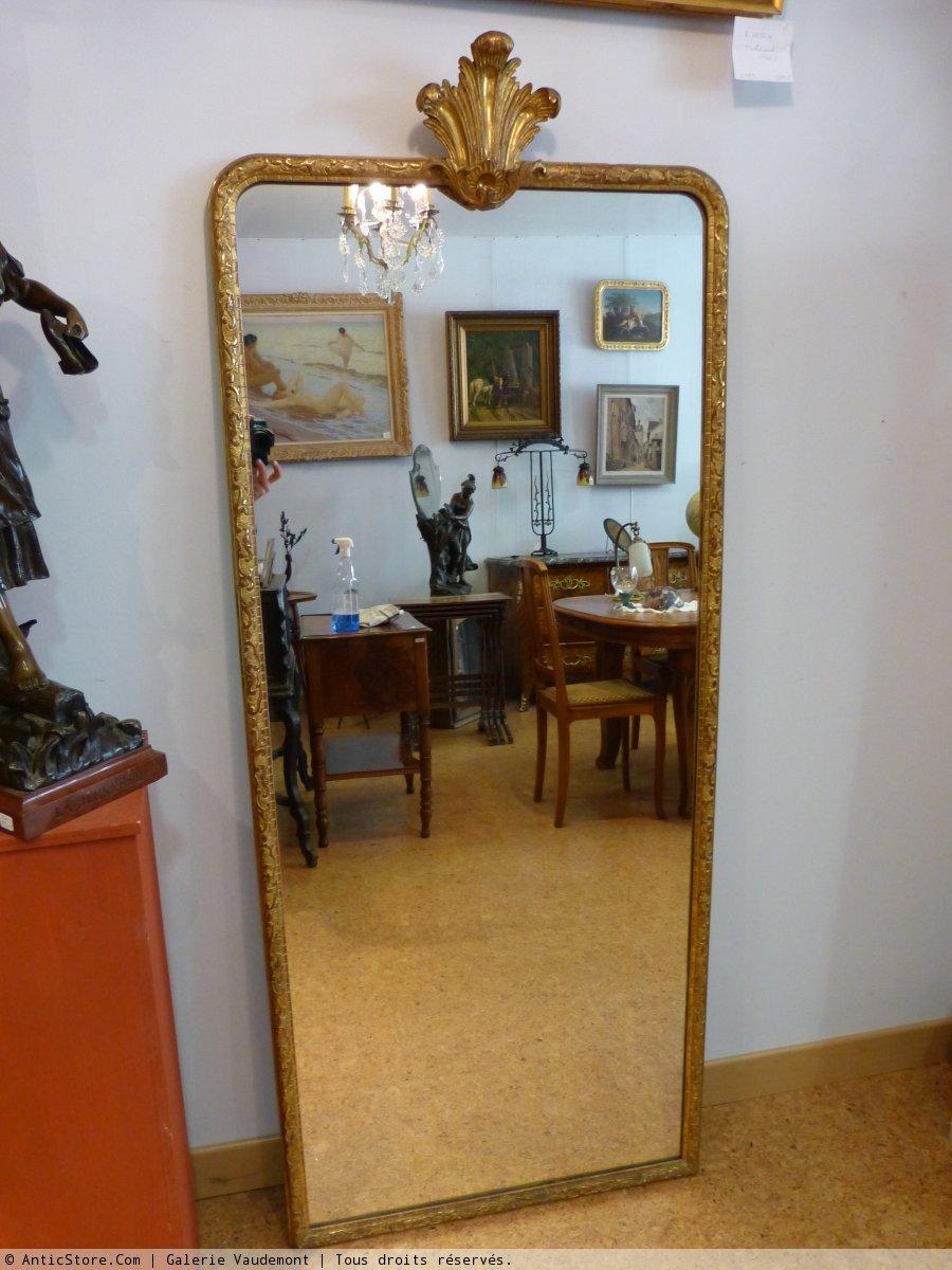 Miroir troit en stuc dor xixe si cle de style for Miroir etroit