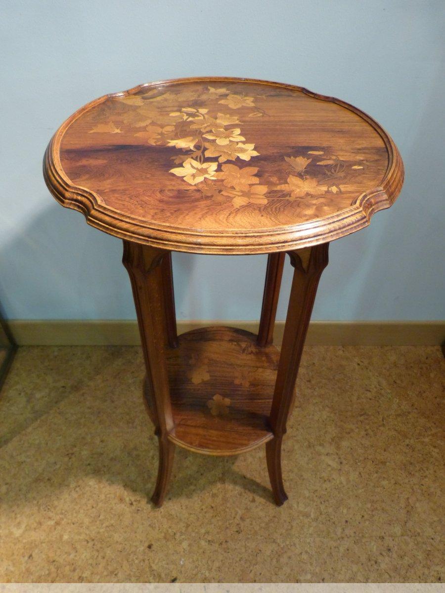emile gall petite table art nouveau signature japonisante xxe si cle. Black Bedroom Furniture Sets. Home Design Ideas