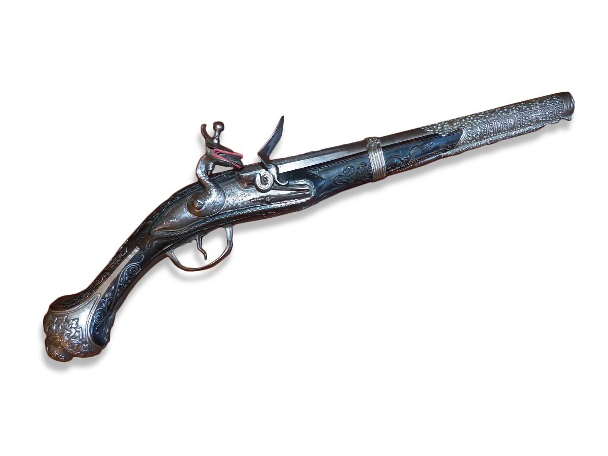 Pistolet A Silex De L Empire Ottoman Xviiie Siecle N 43736