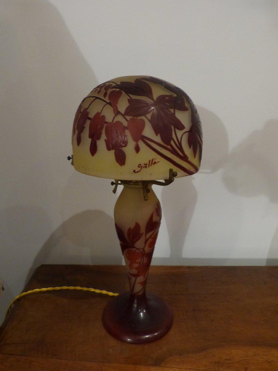 Emile Galle Lampe Champignon Coeur De Marie Xxe Siecle N 47472