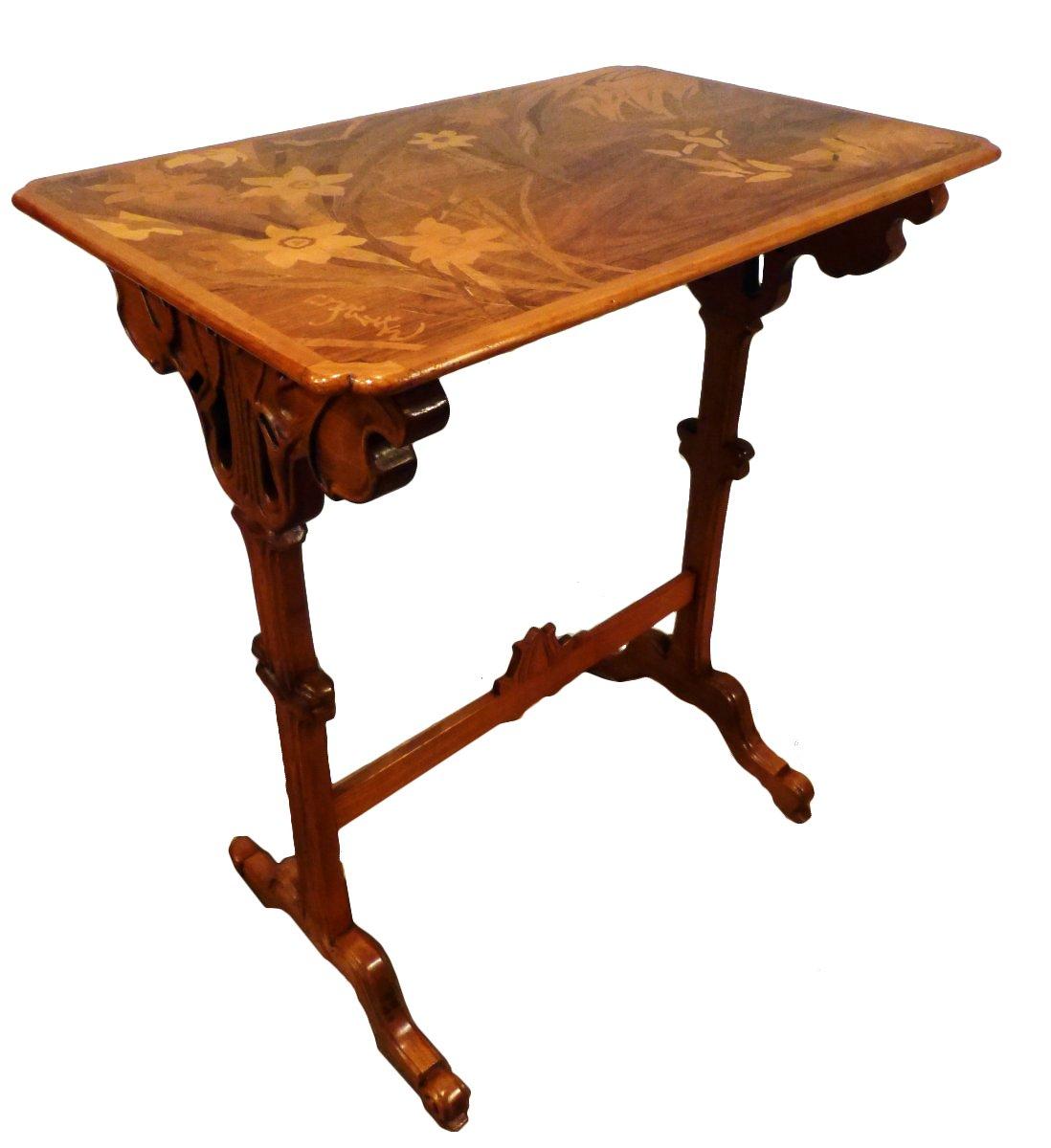 Emile gall table art nouveau cole de nancy fleurs et for Objet de decoration de table