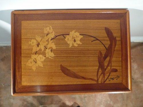 Louis majorelle petite desserte d cor orchid es xxe si cle - Meuble art nouveau ...