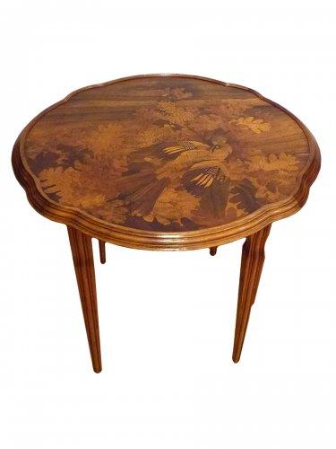 Xxe siècle vendu emile gallé table basse art nouveau le geai des chênes