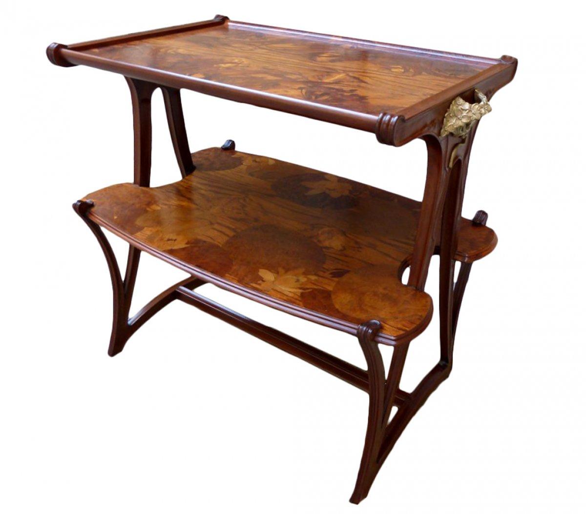 Louis majorelle table desserte aux butom es art nouveau xxe si cle - Art nouveau meuble ...