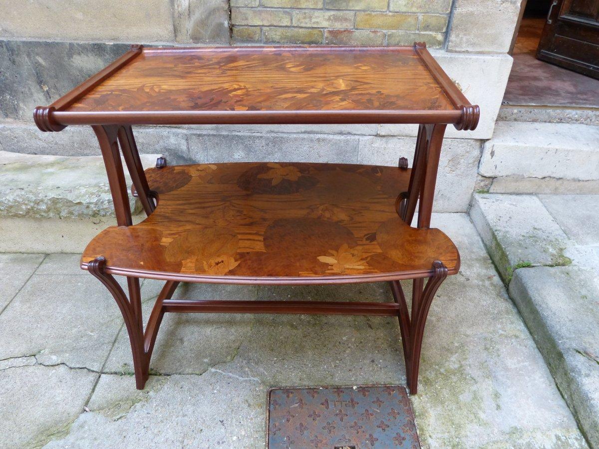 louis majorelle table desserte aux butom es art nouveau xxe si cle. Black Bedroom Furniture Sets. Home Design Ideas