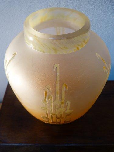 Le Verre Français - an important Art Deco vase with seaweed - Glass & Crystal Style Art nouveau