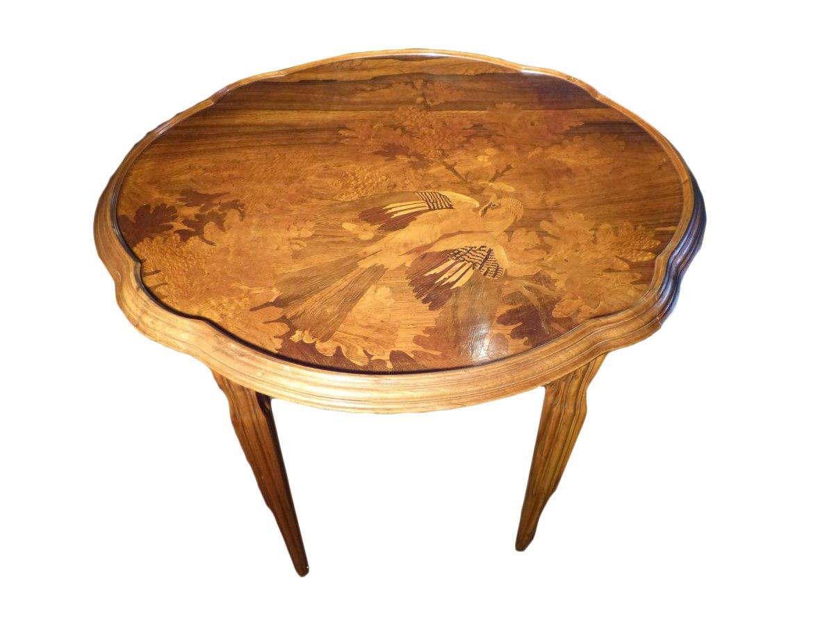 emile gall table basse art nouveau le geai des ch nes xxe si cle. Black Bedroom Furniture Sets. Home Design Ideas