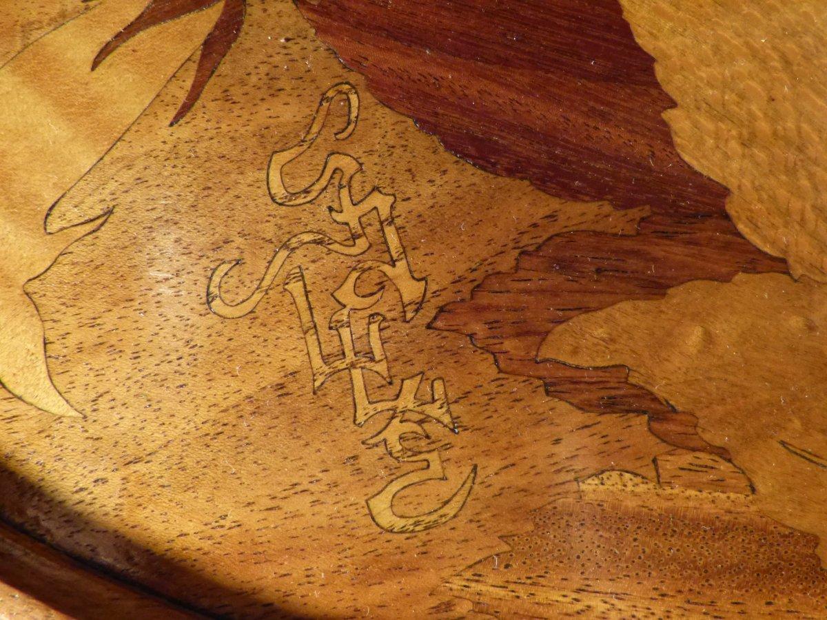 Emile gall table deux plateaux signature japonisante xxe si cle - Signature meubles ...