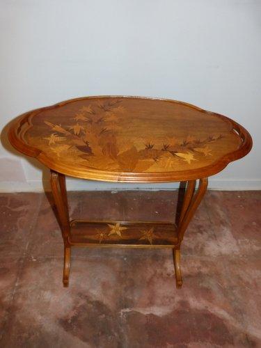 emile gall table deux plateaux signature japonisante xxe si cle. Black Bedroom Furniture Sets. Home Design Ideas
