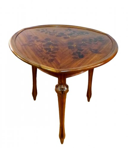 Louis Majorelle - walnut tripod gueridon table