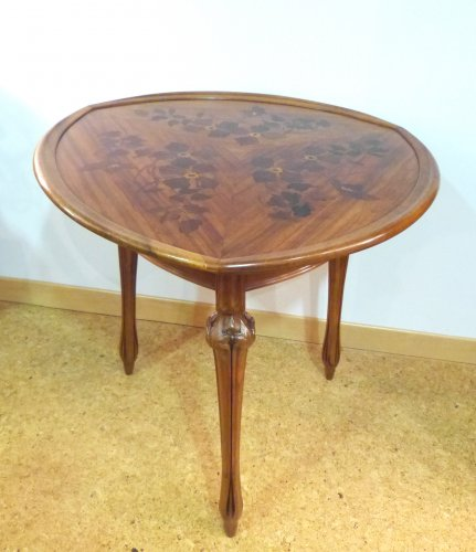 Louis Majorelle - walnut tripod gueridon table -