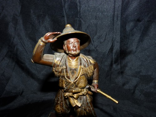 Okimono Samurai bronze -  Japan Meiji period signed Miyao Zo - Asian Art & Antiques Style