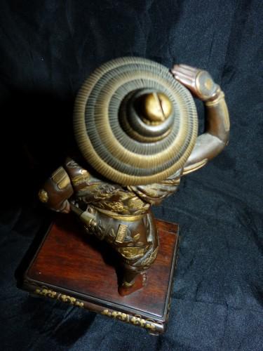 - Okimono Samurai bronze -  Japan Meiji period signed Miyao Zo