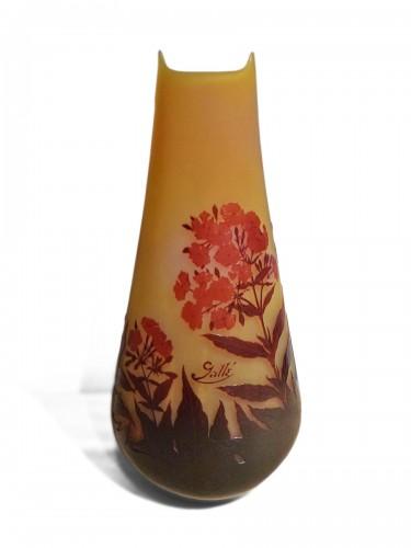 Gallé - Oleander flowers Vase