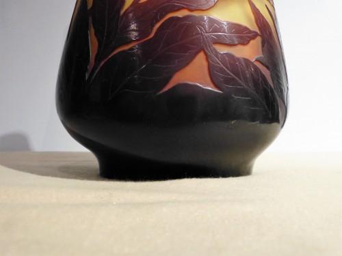 Glass & Crystal  - Gallé - Oleander flowers Vase
