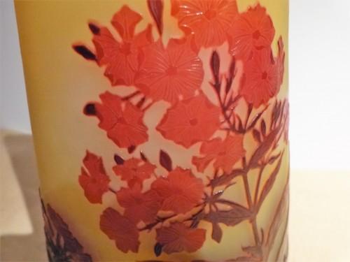 Art nouveau - Gallé - Oleander flowers Vase