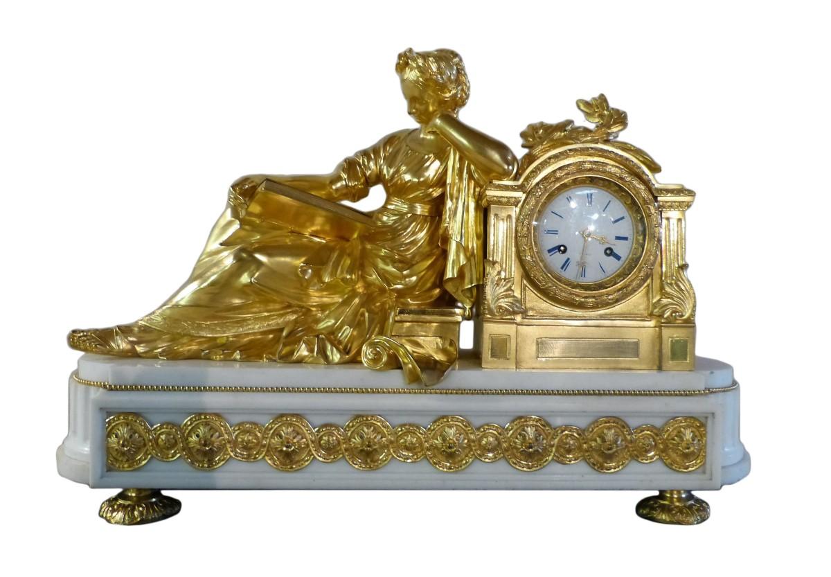 Importante Pendule En Bronze Dore Napoleon Iii Xixe Siecle N 67724