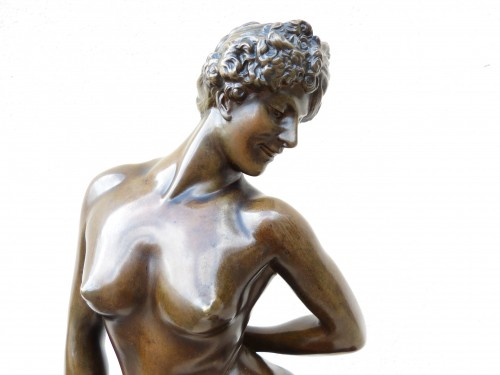 Sculpture  - Jean Léon Gérome (1824-1904) - Elegant with masks
