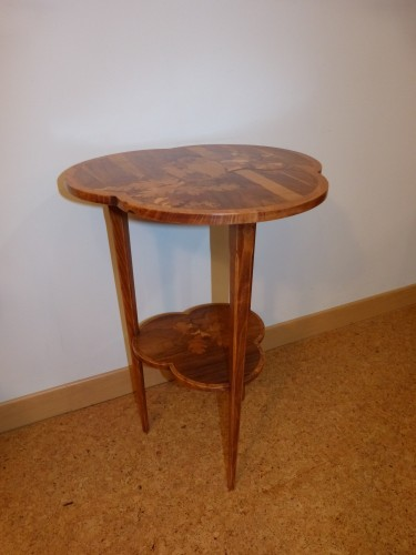 Emile Gallé - Small pedestal table with owls - Furniture Style Art nouveau