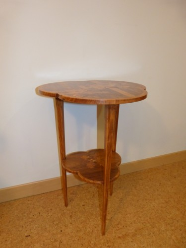 Furniture  - Emile Gallé - Small pedestal table with owls