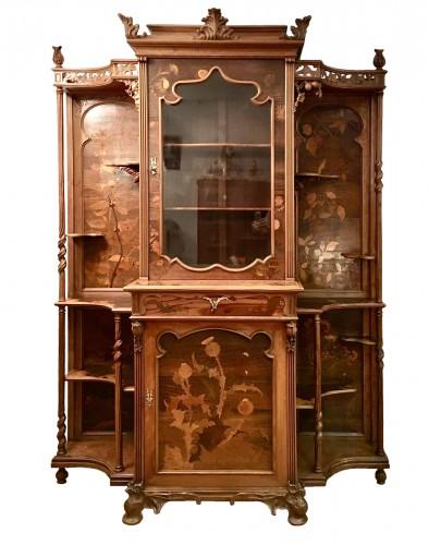 Emile Gallé (1846-1904) - Unique symbolist Cabinet, Circa 1895