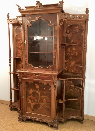 Emile Gallé (1846-1904) - Unique symbolist Cabinet, Circa 1895 - Furniture Style Art nouveau