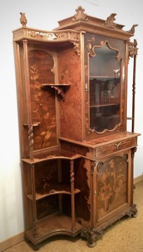Furniture  - Emile Gallé (1846-1904) - Unique symbolist Cabinet, Circa 1895