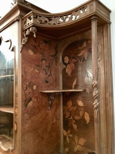 Art nouveau - Emile Gallé (1846-1904) - Unique symbolist Cabinet, Circa 1895