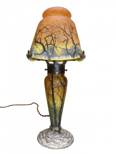 Daum Nancy, Mushroom Snow Landscape Lamp