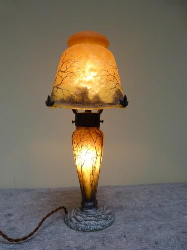 Daum Nancy, Mushroom Snow Landscape Lamp -