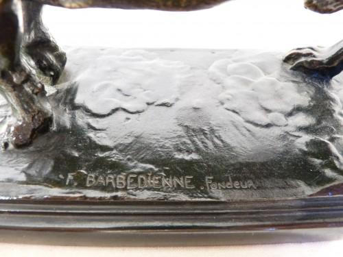 Antoine Louis Barye (1795 - 1865) - Standing Basset Fonte Barbedienne - Napoléon III